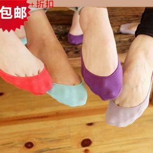 All'ingrosso-Calda cotone confortevole fibra di bambù ragazza calze da donna caviglia bassa femmina invisibile colore ragazza ragazzo maglieria 5pair = 10pcs WS43