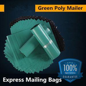 17x30cm 그린 폴라 메일러 배송 포장 봉투 포장 제품 포장 봉투 우편물 자기 접착 패키지 파우치 택배
