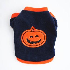 Di alta qualità Graceful durevoli Fashion Dog T-shirt Fleece vestiti caldi Carino zucca di Halloween Caratteristica: 100% marca Manteau Chie