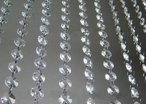 66 FT Cristal Garland Vertentes Acrílico claro Bead casamento da corrente partido da árvore de Manzanita Hanging Decoração do casamento