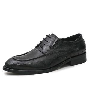 Scarpe da uomo d'affari in pelle sintetica confortevole concise lace-up scarpe a punta scarpe da lavoro moda 2017 autunno scarpe da uomo usura formale