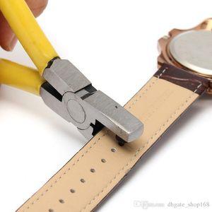 Горячая Распродажа!!! Желтые часы для группы ремень Ссылка ремень дырокол плоскогубцы ушко кожа ручной ремонт инструмент отличное качество