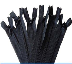 Alipress 20cm 3# Nylon Close End Invisible Zippers For DIY Sewing 50Pcs lot Black Color