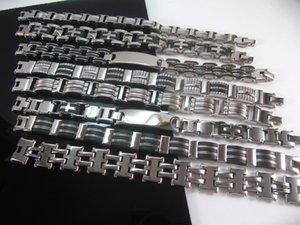 10 جهاز كمبيوتر شخصى / الكثير 316L الفولاذ المقاوم للصدأ أساور رجالي مجوهرات PUNK سوار القوطية البيزنطية حوالي 8.7 بوصة