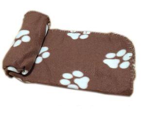 70x100 cm estera de cama para mascotas Paw Print Suave Cálido Fleece Pet Mantas Perro Gato Mat Puppy Bed Sofá Manta tiras para mascotas