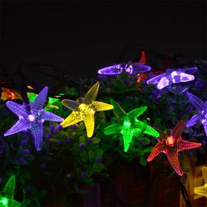 Açık Su Geçirmez Çevre Koruma Denizyıldızı Güneş Dize Işıkları Noel Süslemeleri Aydınlatma Çocuklar Için Gece Işığı Lambası