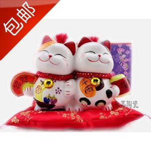 Ceramic Lucky Cat ornaments piggy bank Home Furnishing gift shop opened wedding couple birthday gift ideas