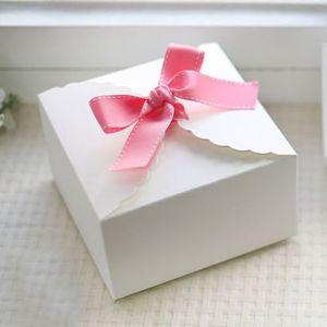 Scatola di cartone con motivo a pizzo bianco, confezione regalo, scatola per dolci, 9cmx9cmx5cm