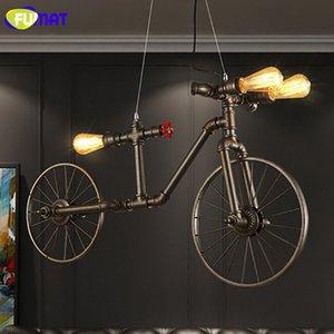 FUMAT Nórdico Loft Tubulação De Água Luz de Ferro Retro Pingente de Luz Para Restaurante Bicicleta Lampara Cafe Bar Vintage Industral Lâmpadas
