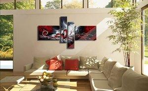 Gerahmt 4 Panel Pure Handgemalte Moderne Kunst Ölgemälde Das Phoenix-Totem, Home Wall Decor auf hochwertige Leinwand in benutzerdefinierten Größen