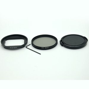 58-миллиметровый круговой фильтр UV / CPL для Hero 7 6 5 Черный корпус для водонепроницаемой камеры