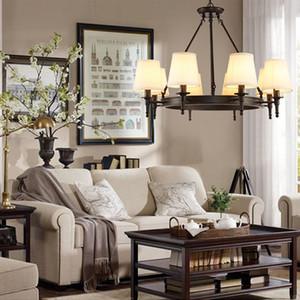 Hängende Beleuchtung American Country Wohnzimmer Lichter LED Kronleuchter moderne Loft Beleuchtung Einfache Eisen Esszimmer Schlafzimmer Arbeitszimmer
