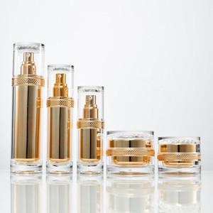 30g 50g yüksek kaliteli Kozmetik boş kavanoz / Şeffaf akrilik şişe kremleri kavanoz / şişe akrilik cam konteyner losyon şişe F20172202