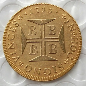 Brazil Rare 4000 Reis 1715 Copy Coins Brass Craft Ornaments replica coins home decoration accessories