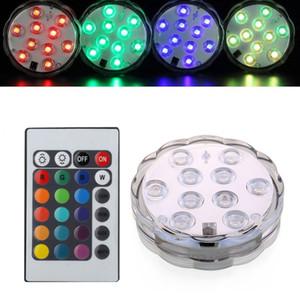 5050 smd 10 kit luce sommergibile a LED, design fiore sommergibile, creazione di effetti di luce multicolore Decorazione della festa di compleanno di nozze