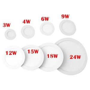 Edison2011 Оптовая продажа 5 шт. Real 3W-24w Led Panel Light ультратонкий дизайн LED потолочный встраиваемый сетчатый светильник / тонкий круглый свет панели