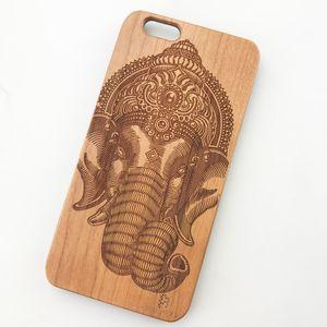 UI Genuine Wood Back Case pour iphone premium en plastique pare-chocs cas de téléphone portable Thin Wooden Phone case