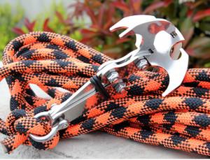 Escalada Gancho Gancho Camping Gancho Gravidade Gravidade Sobrevivência Ganchos Gancho Mosquetão de Aço Inoxidável Folding ferramentas Ao Ar Livre Sem Corda