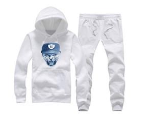 Unkut sweat suit 스포츠 까마귀 바지 정장 남성 인쇄 스포츠 남성 후드 자켓 남성 후드 티와 셔츠 + 바지