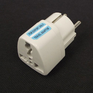 150 шт. / Лот Высокое качество белый универсальный 2-контактный ВЕЛИКОБРИТАНИЯ США AU К ЕС Адаптер для путешествий Адаптер переменного тока Plug Convert EU