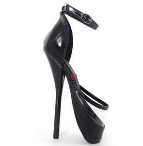 New Sex Toys Unisex Sexy BDSM Sm Game Play 18cm Heel Fetish Thigh High Bondage Sandals Shoes Heeled Maid Uniform Ballet Shoes