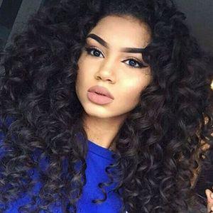 Parrucca piena glueless calda del merletto Capelli umani ricci capelli brasiliani del merletto completo Parrucche ricce crespi dei capelli umani per le donne nere