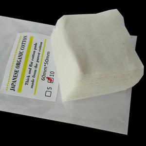 Atomizzatore di RDA del cotone organico giapponese puro di 100% che trasporta cotone non candeggiato Natura Cotton per rda rba Atomizzatore ricostruibile E Cig DHL libero