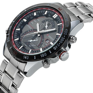 CURREN Männer Kausal Uhr Männer Quarz Business und Reisen Uhren Casual Voller Stahl Mode Wasserdicht Armbanduhr 8149