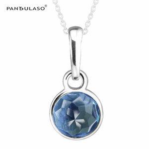 Droplet London Blue Pendant Pandulaso Original perles en argent 925 pour femme Bracelet Fit pandora bracelet mois Bithstone charmes