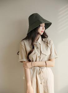 2017 nuovo cappello a tinta unita cappello a tesa larga pescatore giapponese cotone primavera protezione solare cappello da sole cappello maschio e femmina tappo spedizione gratuita
