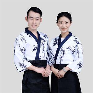 chef de femmes de bambou sushi mode uniformes ventilateurs hommes restaurant uniformes de serveuse Corée du café chef japonais hôtel service nourriture cuisinier costume japon