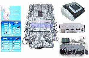 3 dans 1 presse infrarouge lointaine amincissant la machine électrique de corps de drainage de lymphe de pression d'air de sauna de stimulation de muscle d'EMS
