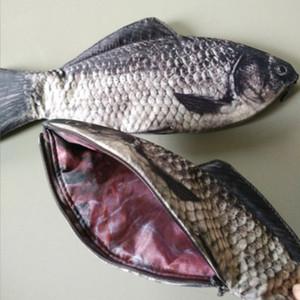Kreative Simulation Fisch geformt Bleistiftbeutel Federmäppchen Fall Box, Fisch der großen Kapazität Upgrade Schule Geschenk lustiges Geschenk