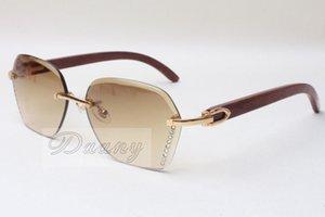 58-18-135mm Vente 8200728 Fashion Haute Qualité chaude Lunettes de soleil Diamant Verres naturels en bois Taille: Sunglasses EQGWT