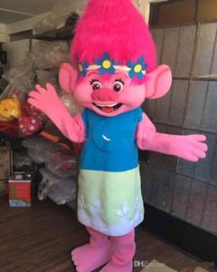 2017 Nouvelle mascotte Branche Trolls Costume mascotte Parade Qualité Clowns Anniversaires Troll partie de fantaisie Dresss Livraison gratuite