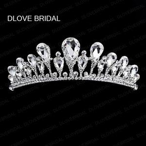 Spedizione gratuita Graceful Crystal Bridal Crown Tiara Wedding Jewelry Jewelry Fascinators Copricapo Ragazze da sera Prom Abiti da festa Accessori