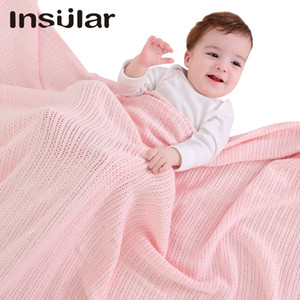 Breathable knitted Baby Blanket Soft Newborn Bedding Kids Blanket Baby Wrap Swaddles 8 Colors