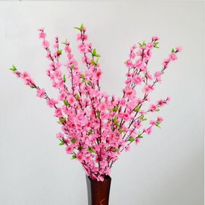 65 cm Simülasyon Ipek Çiçekler Küçük Şeftali Çiçeği Yapay Çiçekler Oturma Odası Ev Düğün Dekoratif Çiçekler Koymak