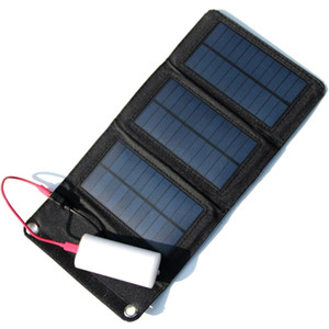 Hot! Portable Solar Charger 5W Foldable Solar Panel Bag+Traveling Solar Power Supply+USB Charger For Cell Phones High Quality Free Shipping