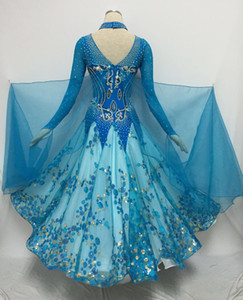 Standard Flomenco Dance Dresses For Lady High Quality Custom Made Women Waltz Tango Ballroom Competition Dancing Dress