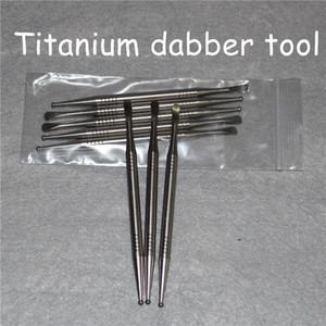 Venta al por mayor de alta calidad Gr2 Aceite de titanio Dabber Nail Wax Selector de aceite para fumar Vapor Scoop Ti contenido 99% 110 mm Dabber herramientas