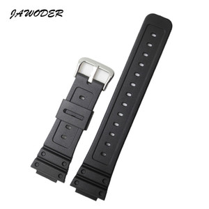 JAWODER Watchband 26mm Black Silicone Rubber Watch Band Strap for DW-5600E DW-5700 G-5600 G-5700 GM-5610 Sports Watch Straps
