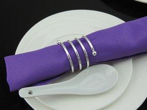 20pcs anello portatovagliolo in metallo argentato portatovagliolo con fibbia portacandele hotel decorazione bomboniera