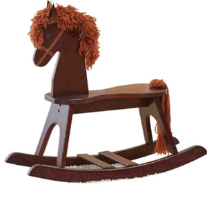 Exports To America Eco-friendly Thicken Wood Rocking Horse Childhood Baby Rocking Chair Kids Rollaround Horse Cockhorse for 2~10 Ages