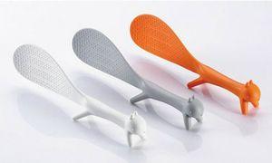 Toptan-1 Parçalar Sıcak Satış Yepyeni Sıcak Moda Roman Sevimli Sincap Dikey Pirinç Kaşık Yapışmaz Meal Paddle Hediye