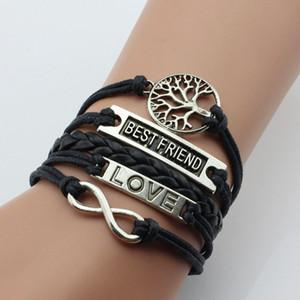 bracelets bijoux à la mode HI-Q mode Lots mixtes Charm Bracelets Infinity beaucoup d'argent style cueillent cadeau de femmes filles