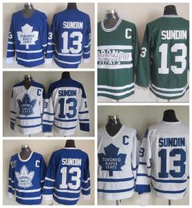 Old Time Toronto Maple Leafs 13 Mats Sundin Hockey maglie Vintage Classic 75 ° Anniversario Mats Sundin Jersey Ricamo C Patch S-XXXL