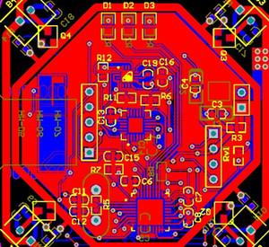 Modulo Bluetooth AirPlane a quattro alberi HM-06 HM-07 MPU6050 HMC5883 STM32F103T8U6 Schema e PCB Kit fai da te Motor Controller pcb