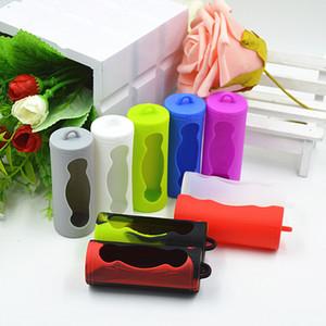 26650 배터리 커버 상자 실리콘 보호 케이스 전자 담배 vape 26650 li-ion 배터리 모드에 대 한 다채로운 부드러운 고무 피부 보호자 홀더