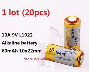 20pcs 1 lot 10A 9V 10A9V 9V10A L1022 pile alcaline sèche 9 Volt Batteries remplacer A23L Livraison Gratuite